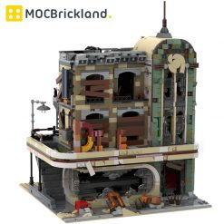 Downtown Diner Apocalypse Version MOC 40173 Modular Building Designed By SugarBricks With 2438 Pieces
