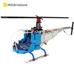 Nighthawk Helicopter MOC 11224 City By Tomik with 768 Pieces