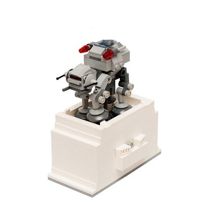 Kinetic Base for Microfighter AT-AT MOC 6121 Star Wars Designed By Timeremembered With 221 Pieces