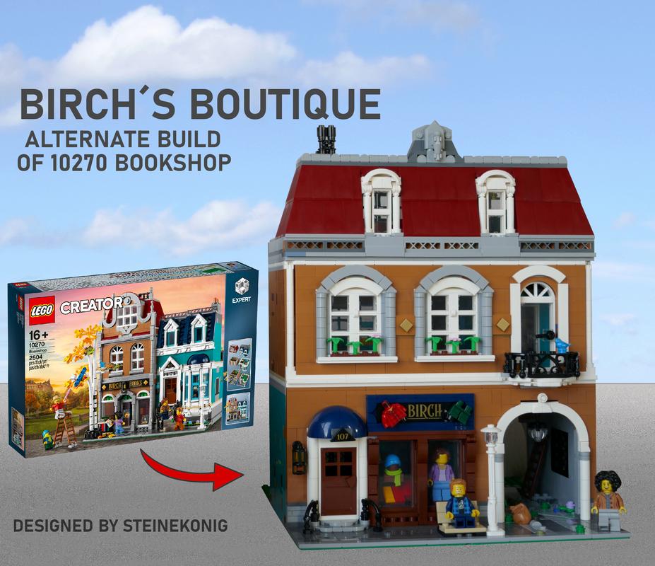 BIRCHs Boutique MOC-58645 Building by steinekonig with 2264 Pieces