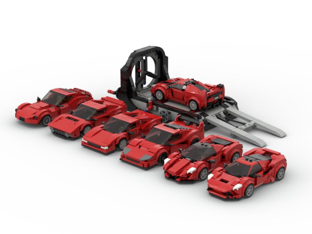 Ferrari Bundle MOC-57847 Super Cars Designed By legotuner33 with 2413 Pieces