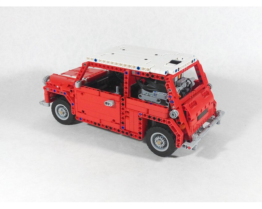 Classic Mini Cooper MOC 3220 Technic Designed By Artemy Zotov Produced By MOC BRICK LAND