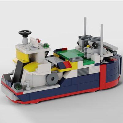 Cargo Ship MOC 8130 City Designed By Timeremembered With 204 Pieces