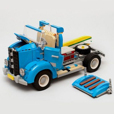 Vintage Truck MOC 9001 Creator Compatible With LEGO 10252 Designed By Timeremembered