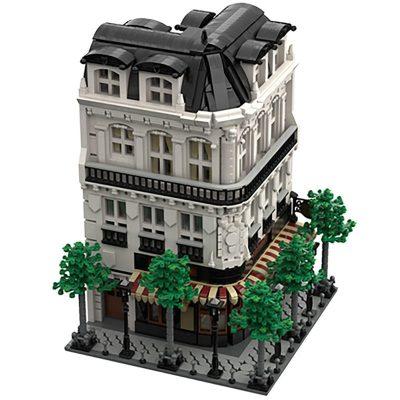 Paris Boulangerie Studio MOC 40476 Modular Building Designed By tkel86 With 4204 Pieces