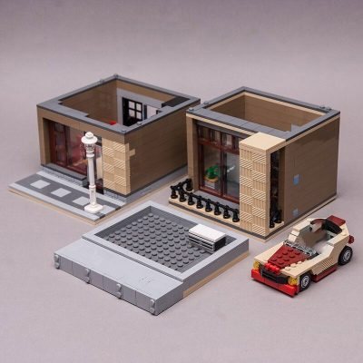 10232 Modern House MOC 21057 City Designed By Keep On Bricking With 792 Pieces