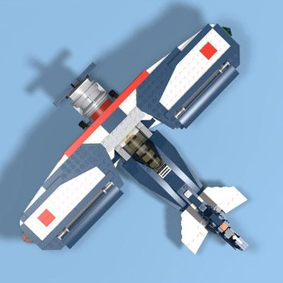 Biplane MOC 14167 Military Compatible With LEGO 31039 Designed By Nequmodiva With 461 Pieces