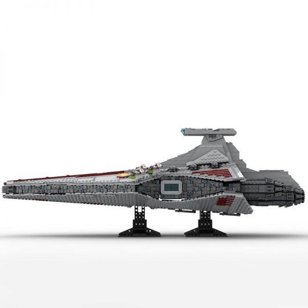 Venator-class Republic Attack Cruise With Interior MOC 43186 Star Wars Designed By Bruxxy