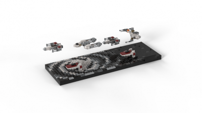 EPISODE 5 : Ending… REBEL FLEET Star Wars by jellco MOC-71664 with 2064 Pieces