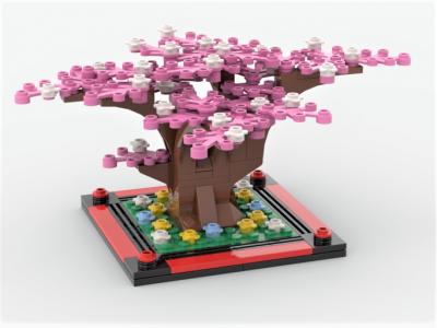 Sakura Tree Creator MOC-69242 by xmsbricks with 141 Pieces