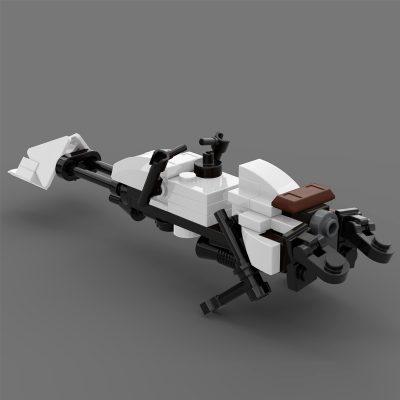 74-Z Speeder Bike White Star Wars MOC-69562 by JohndieRocks with 61 Pieces
