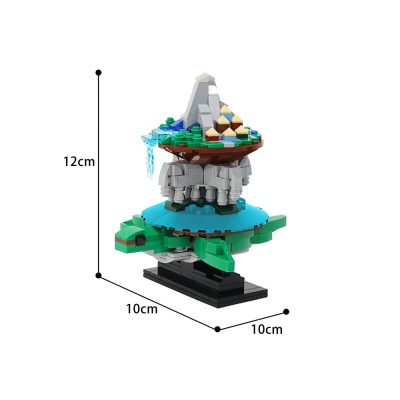 World Turtle Creator MOC-24522 by JKBrickworks WITH 461 PIECES