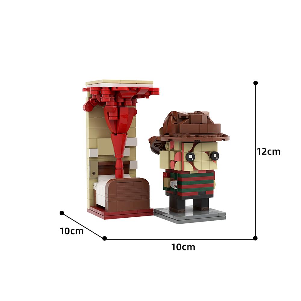 Freddy Krueger Brickheadz Creator MOC-46943 by Brickdroid WITH 357 PIECES