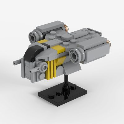 Razor Crest Mini-scale Star Wars MOC-36359 by 2bricksofficial WITH 69 PIECES