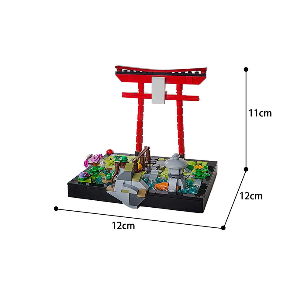 Japanese garden for Brickheadz Creator MOC-64508 by cdn WITH 346PIECES