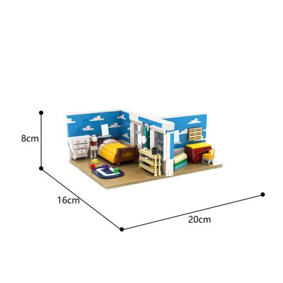 Toy Story Andy's Room Movie MOC-72941 by OneBrickPony WITH 693 PIECES