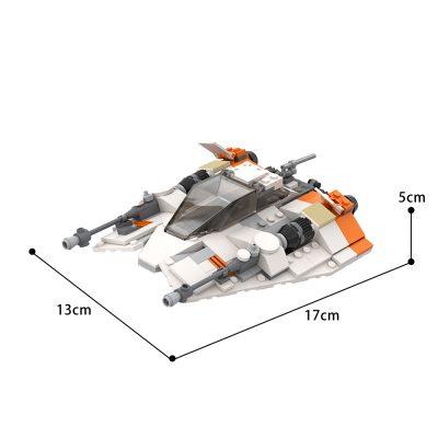 T-47 Snowspeeder Star Wars MOC-61894 by scruffybrickherder WITH 271 PIECES