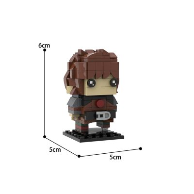 How To Train Your Dragon Hiccup MOC Brickheadz Creator MOC-35892 by custominstructions WITH 202PIECES