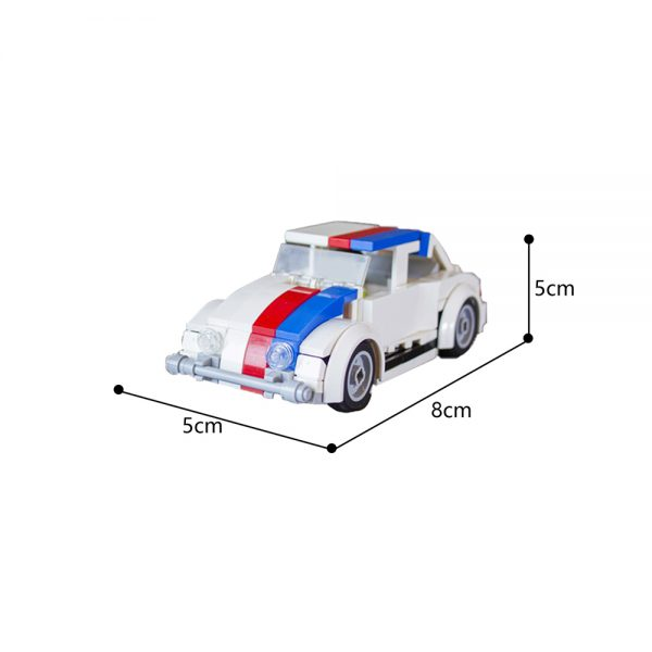 Blue Herbie The Love Bug Creator MOC-13079 by jerrybuildsbricks WITH 147PIECES