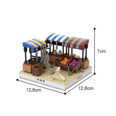 Desert Street Market #2 for a Modular Desert Village CREATOR MOC-32625 WITH 257 PIECES