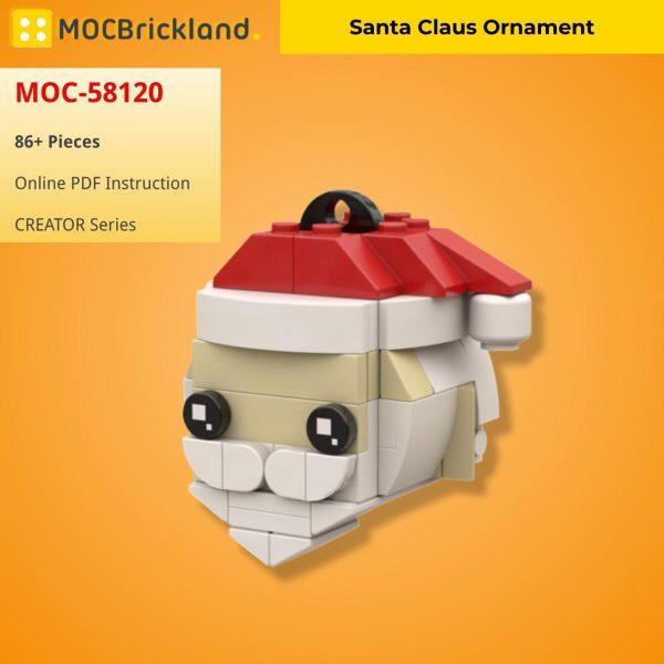 Santa Claus Ornament CREATOR MOC-58120 WITH 86 PIECES