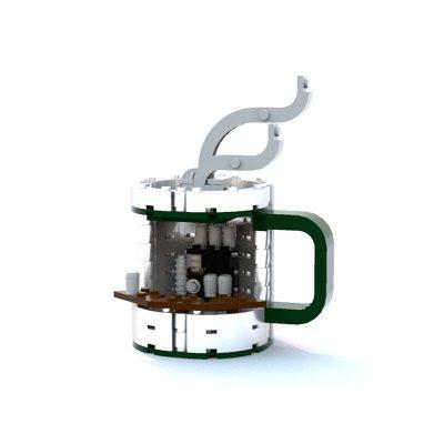Coffee Mug Stand CREATOR MOC-7416 WITH 141 PIECES