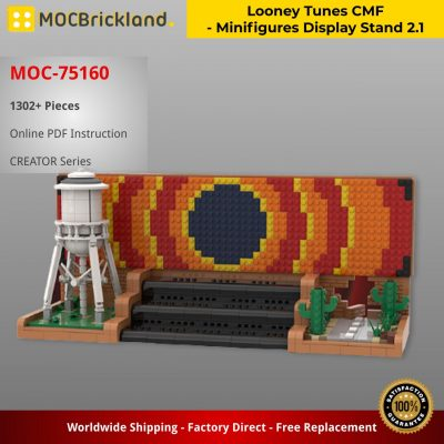 Looney Tunes CMF – Minifigures Display Stand 2.1 CREATOR MOC-75160 by Freddiegucci WITH 1302 PIECES