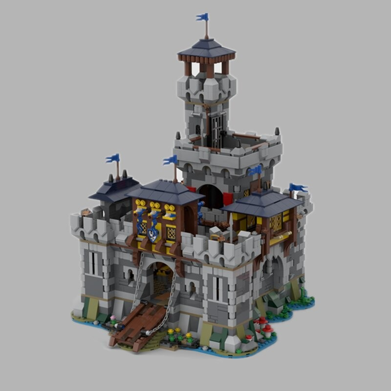 Medieval Fortress CREATOR MOC-80329 by Mocscout WITH 3026 PIECES