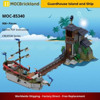 Guardhouse Island and Ship CREATOR MOC-85340 by LetsBrick with 908 pieces