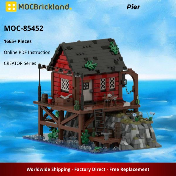 Pier CREATOR MOC-85452 by Oovladimir with 1665 pieces