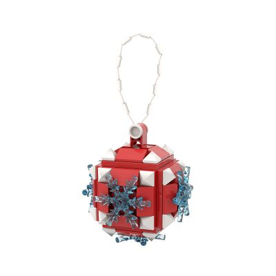 Christmas Snowball Ornament CREATOR MOC-89850 WITH 78 PIECES