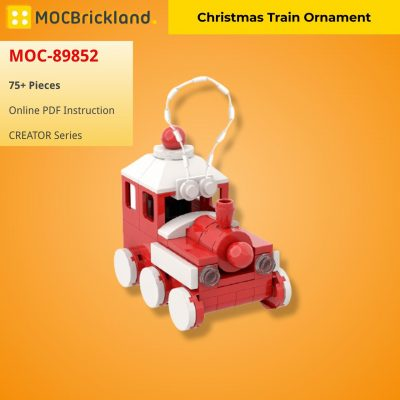 Christmas Train Ornament CREATOR MOC-89852 WITH 75 PIECES
