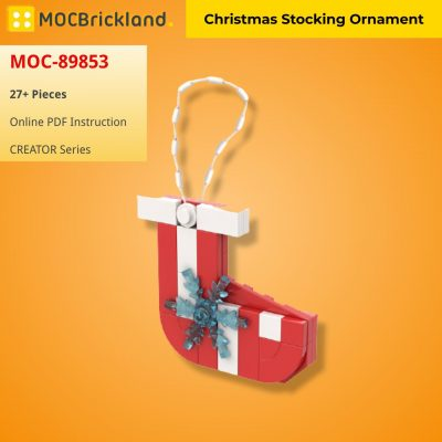 Christmas Stocking Ornament CREATOR MOC-89853 WITH 27 PIECES
