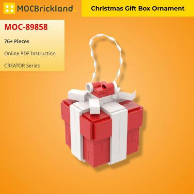 Christmas Gift Box Ornament CREATOR MOC-89858 WITH 76 PIECES