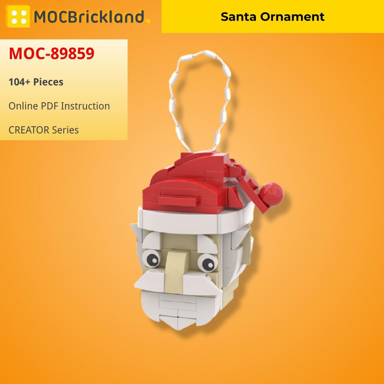 Santa Ornament CREATOR MOC-89859 WITH 104 PIECES