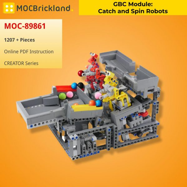 GBC Module: Catch and Spin Robots CREATOR MOC-89861 WITH 1207 PIECES