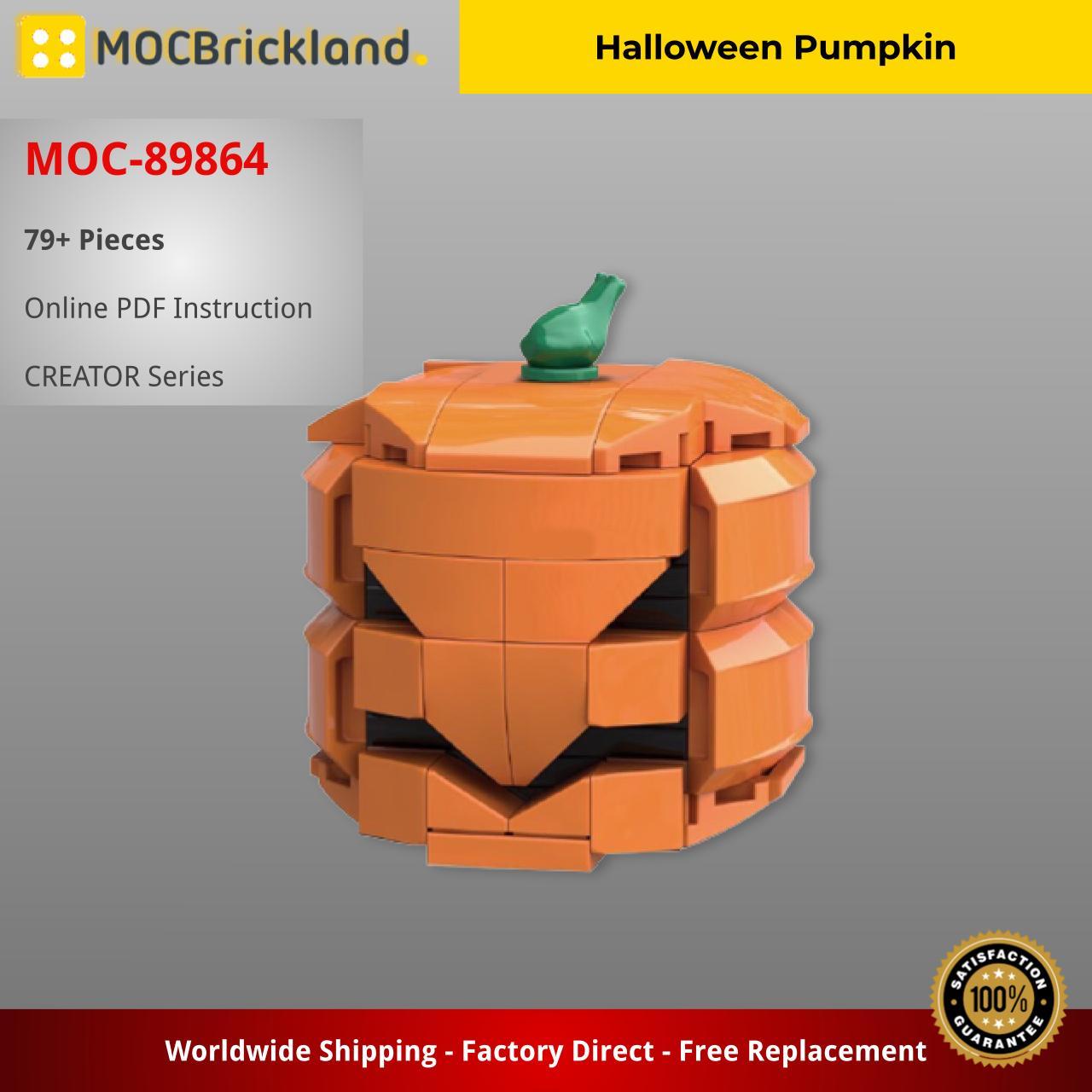 Halloween Pumpkin CREATOR MOC-89864 WITH 79 PIECES