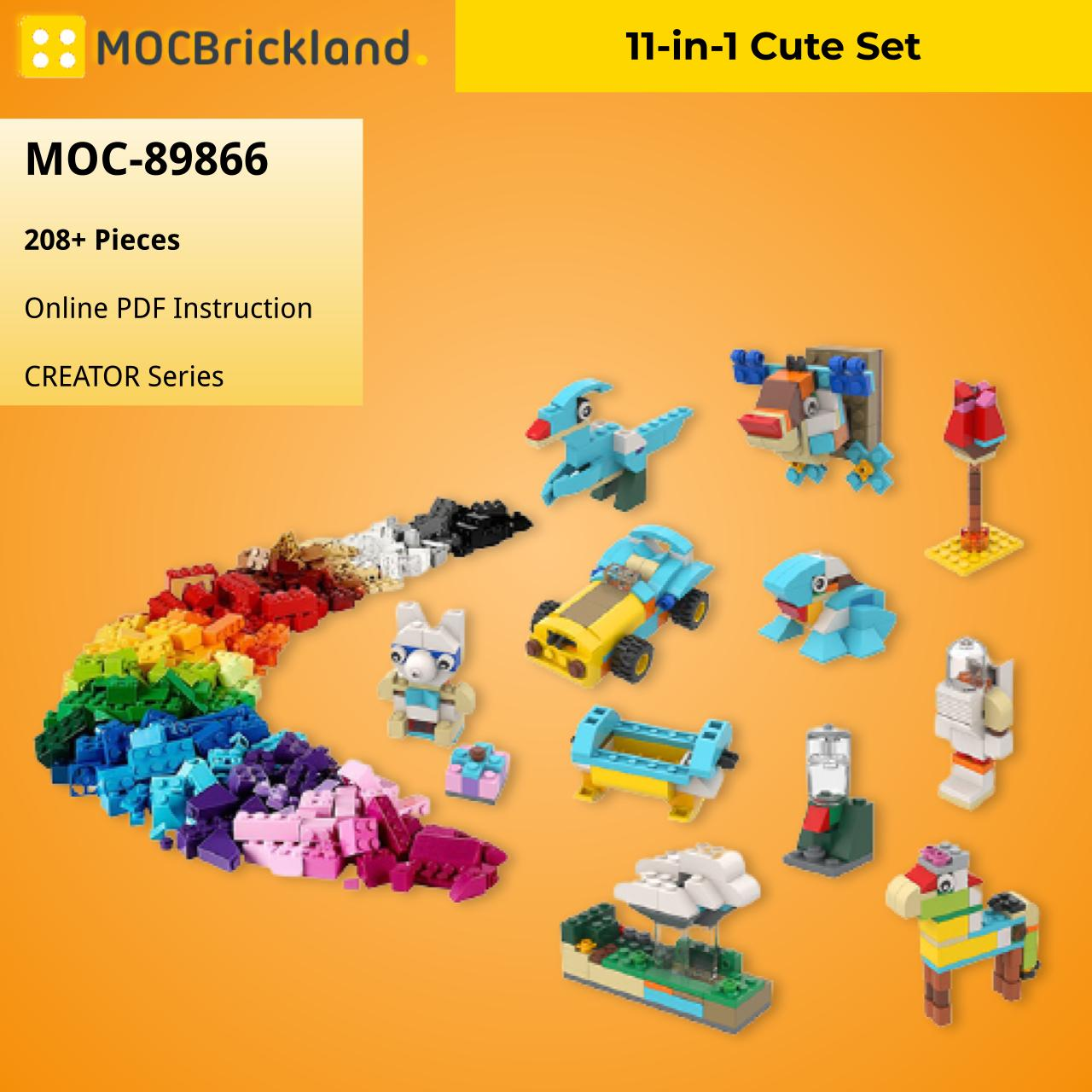 11-in-1 Cute Set CREATOR MOC-89866 WITH 208 PIECES