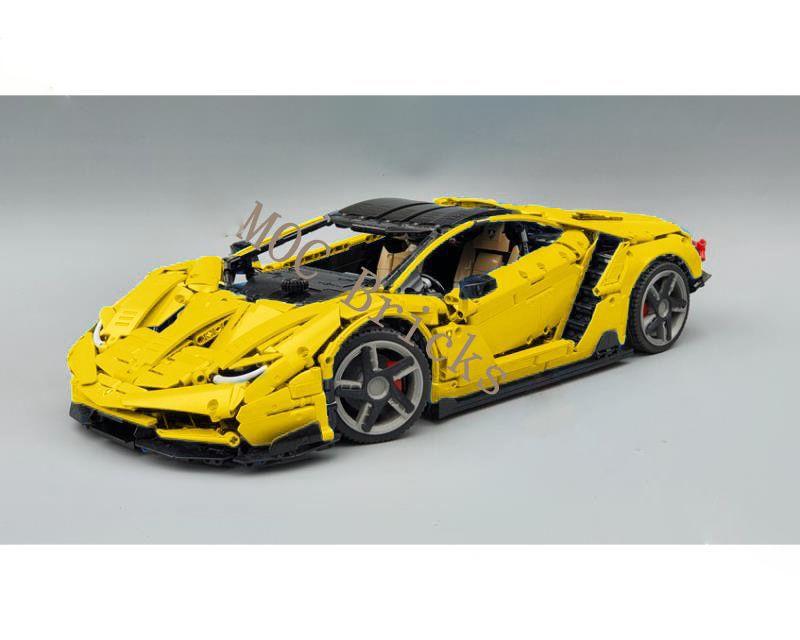 MOC 39933 Lamborghini Centenario 1:8 Hypercar with 3789 pieces