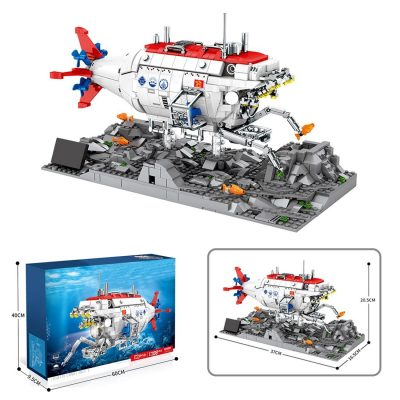 Jiaolong Deep-Sea MILITARY Juhang 88201 with 1288 pieces