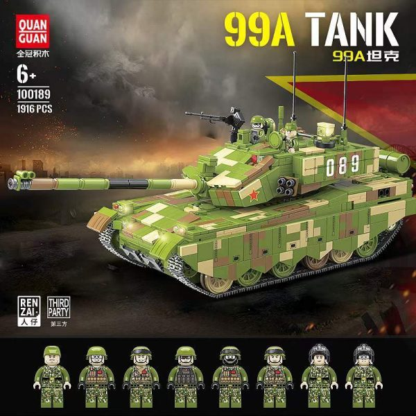 99A Tank MILITARY QuanGuan 100189 with 1916 pieces