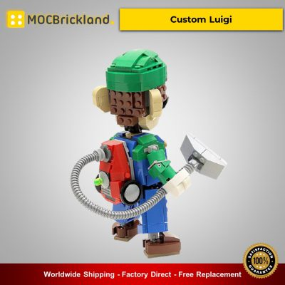MOC-13506 Movie Custom Luigi By buildbetterbricks With 347 Pieces