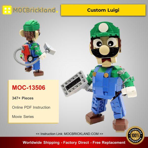 MOC-13506 Movie Custom Luigi By buildbetterbricks With 347 Pieces