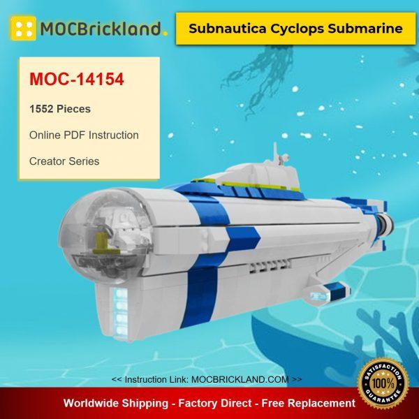 MOC-14154 Creator Subnautica Cyclops Submarine Designed By TommyStyrvoky With 1552 Pieces