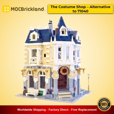 The Costume Shop – Alternative to 71040 MOC-14603 Modular Building Designed By BrickBees With 2675 Pieces