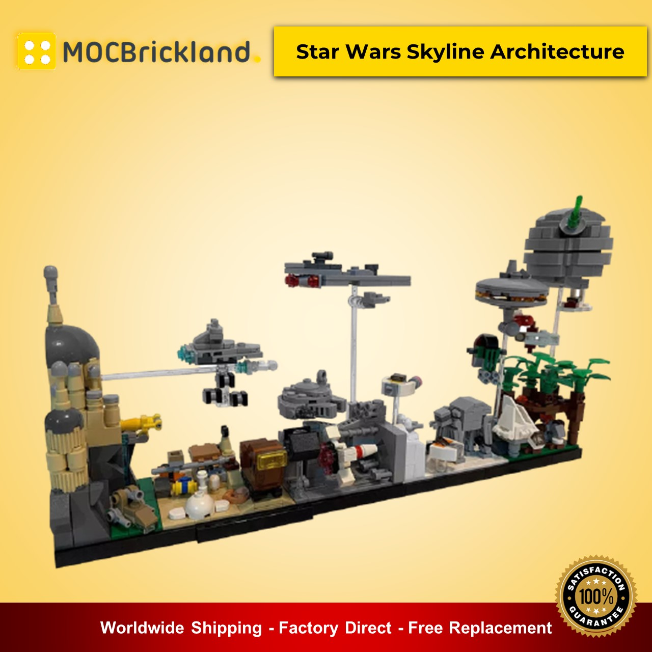 MOC-19493 Star Wars Skyline Architecture Star Wars Designed By MOMAtteo79 With 788 Pieces