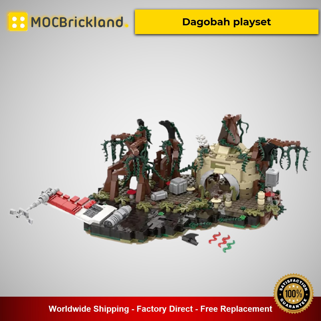 MOC-19522 Star Wars Dagobah playset Designed By IScreamClone With 792 Pieces