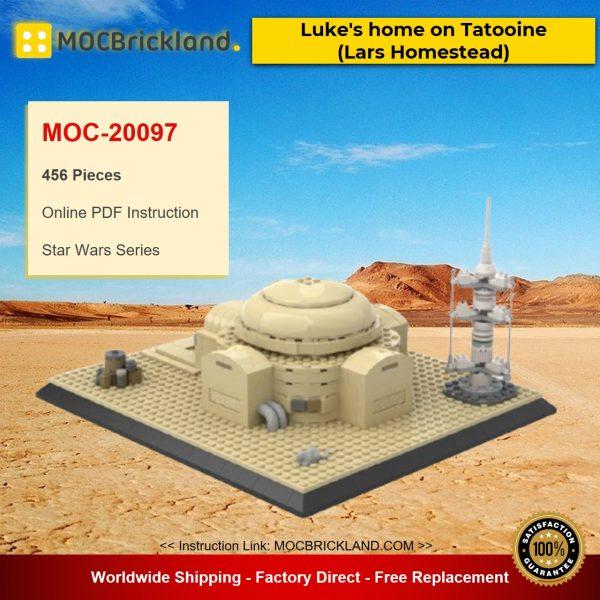 MOC-20097 Star Wars Luke's home on Tatooine (Lars Homestead) By EmpireBricks With 456 Pieces