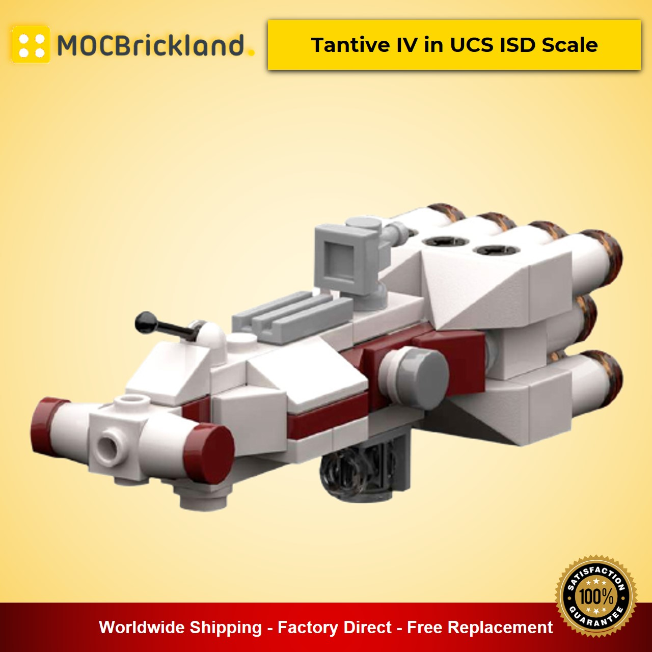 Tantive IV in UCS ISD Scale MOC-20584 Star Wars Designed By RobertBrick With 82 Pieces