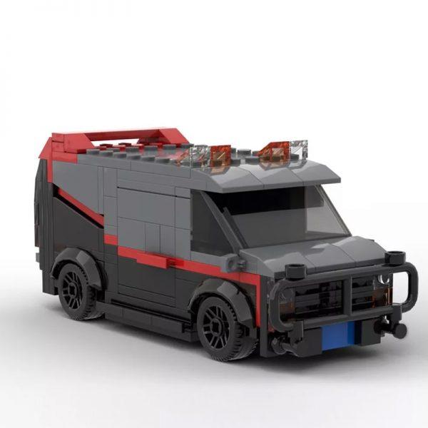 A-Team GMC Vandura Van Technic MOC-20604 by mkibs WITH 242 PIECES